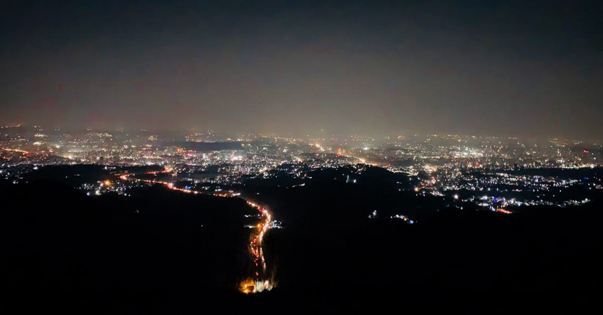 Adventure Pulse Katraj to sinhagad night trek City Light View