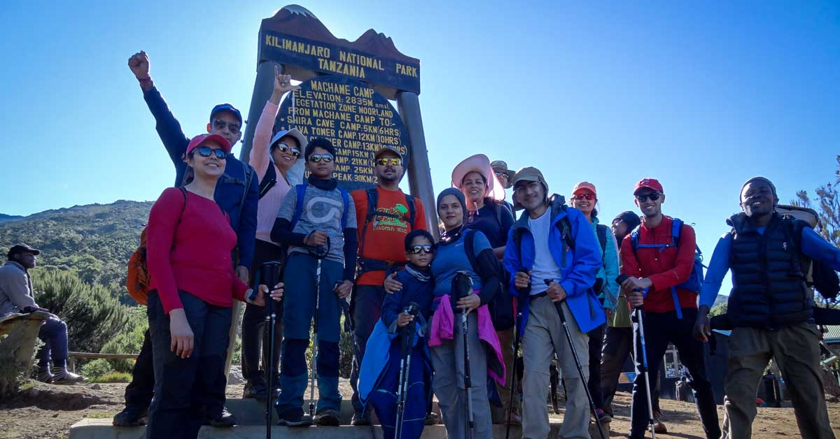 Adventure Pulse Group on Mount Kilimanjaro National Park