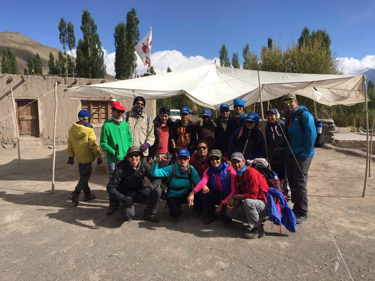 Adventure Pulse Team Members with other Climbers at Stok Village