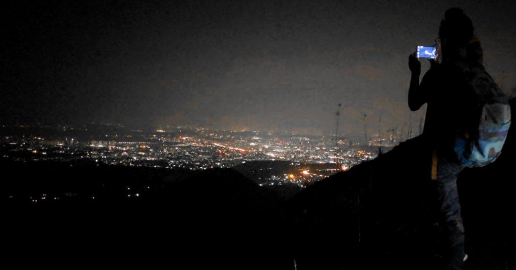 Beautiful view of Night City Lights on K2S night Trek