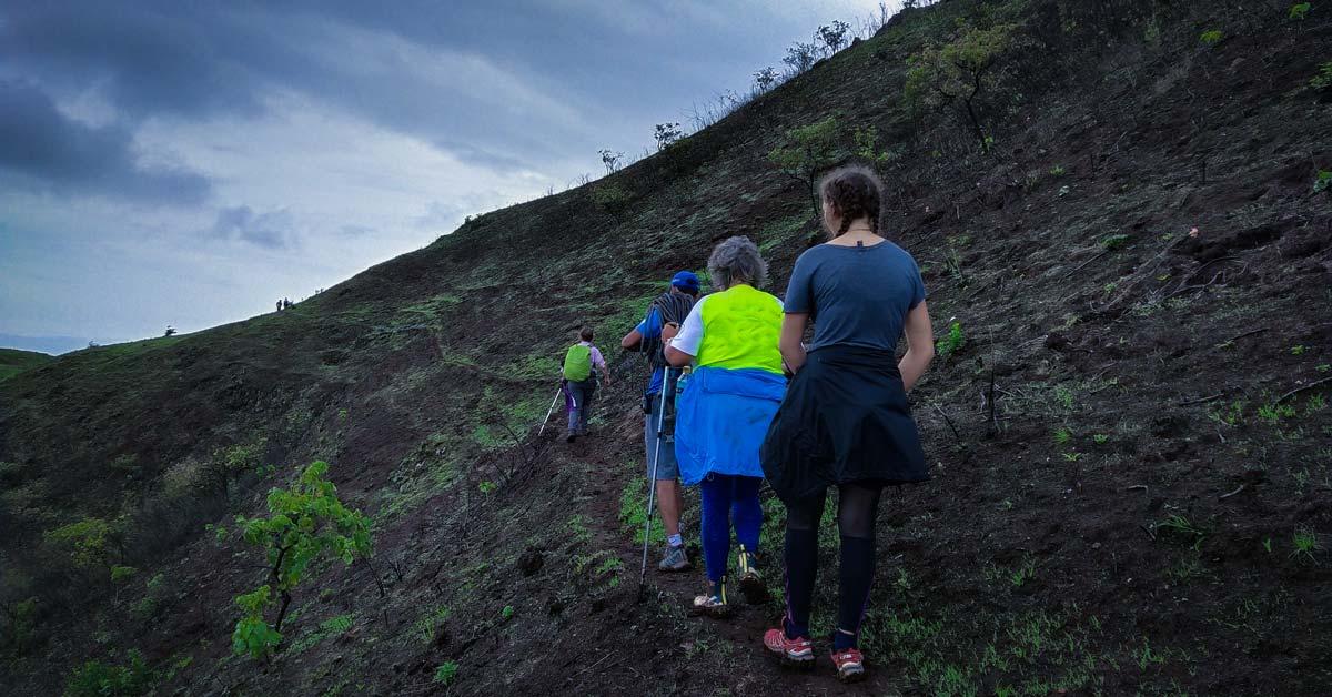People on a trek